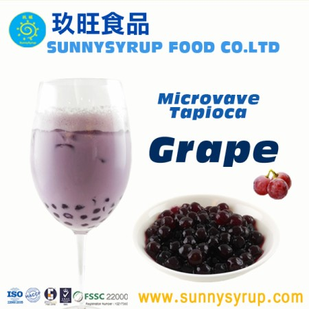 Frozen Microwave Grape Flavor Tapioca Pearl - MTP09